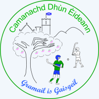 Camanachd Dhun Eideann badge - colour for website homepage