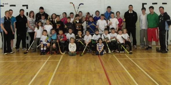 Participants at CCL shinty festival